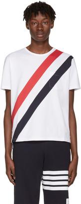 Thom Browne White Stripes Pocket T-Shirt $490 thestylecure.com