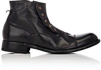 Harris Men's Cap-Toe Spat Boots - Black
