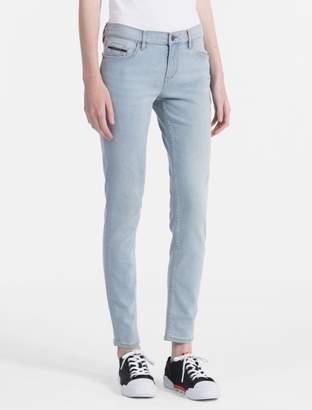 Calvin Klein skinny fit light blue ankle jeans
