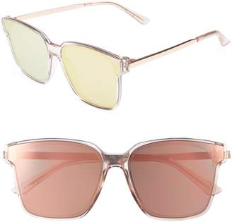 CLYDE BONNIE Wall 62mm Square Mirror Lens Sunglasses