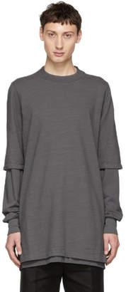 Rick Owens Grey Layered Hustler T-Shirt