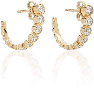 Sophie Bille Brahe Boucle Ensemble 18K Gold Diamond Hoop Earrings