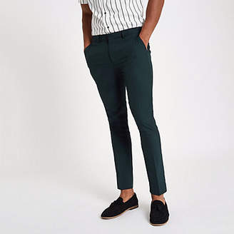 River Island Forest green super skinny smart pants