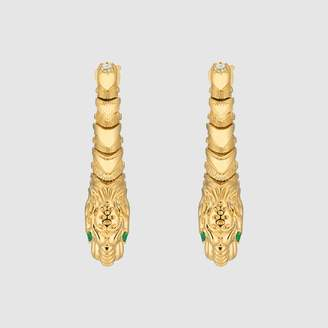 Dionysus yellow gold earrings