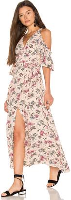 J.O.A. Cold Shoulder Maxi Wrap Dress $112 thestylecure.com