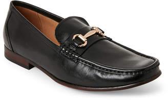 Steve Madden Black Gere Leather Bit Loafers