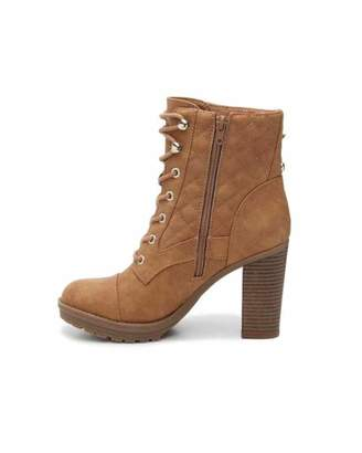 G by Guess Womens Gift Closed Toe Ankle Fashion Boots, Tan, Size 6.5