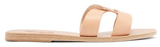 Ancient Greek Sandals Desmos Leather Slides - Womens - Tan