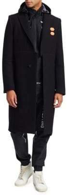 Off-White Long Wool-Blend Coat