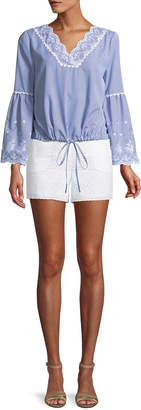 Laundry by Shelli Segal Eyelet Lace Tie-Side Shorts