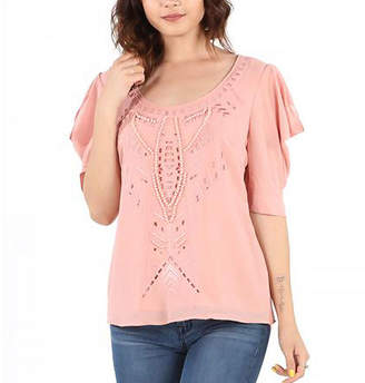 Asstd National Brand Beaded Fancy Blouse