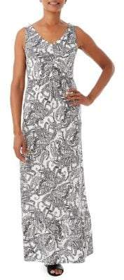 Olsen Sleeveless Paisley Maxi Dress