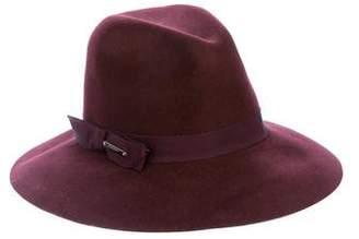 Burberry Felt Wide Brim Hat