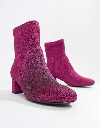 Essentiel Antwerp pink glitter boot