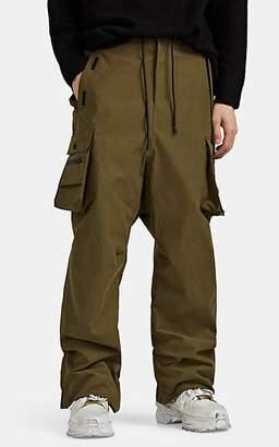 Templa Men's Cotton-Blend Drop-Rise Cargo Trousers - Olive