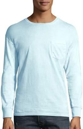 Hanes Big Men's ComfortWash Garment Dyed Long Sleeve Pocket Tee