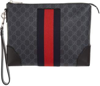 Gucci GG Supreme Wrist Strap Bag