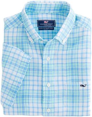 Vineyard Vines Meads Bay Classic Short-Sleeve Tucker Shirt