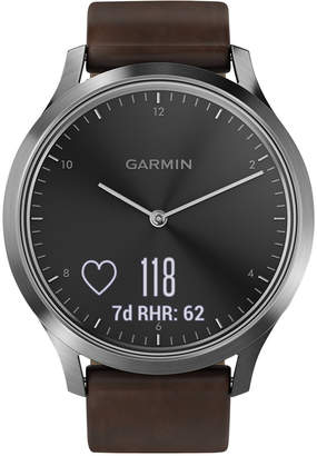 Garmin vivomove Hr Brown Leather Strap Hybrid Smart Watch 43mm