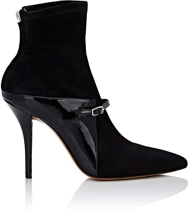 Givenchy Women's Buckle-Strap Suede Ankle Boots