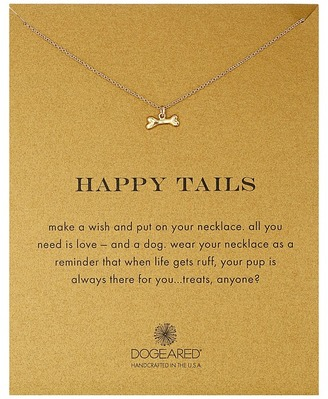 Dogeared - Happy Tails Dog Bone Necklace Necklace $48 thestylecure.com