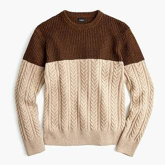 J.Crew Rugged merino wool mixed-knit crewneck sweater