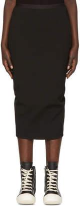 Rick Owens Black Grosgrain Short Soft Pillar Skirt
