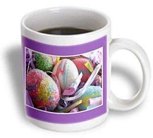 3dRose Sparkly Easter Eggs, Ceramic Mug, 11-ounce