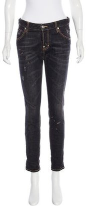 Dsquared2 Distressed Straight-Leg Jeans w/ Tags $165 thestylecure.com