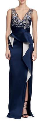 Marchesa Sleeveless Column Gown