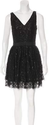 Robert Rodriguez Sleeveless Lace Mini Dress