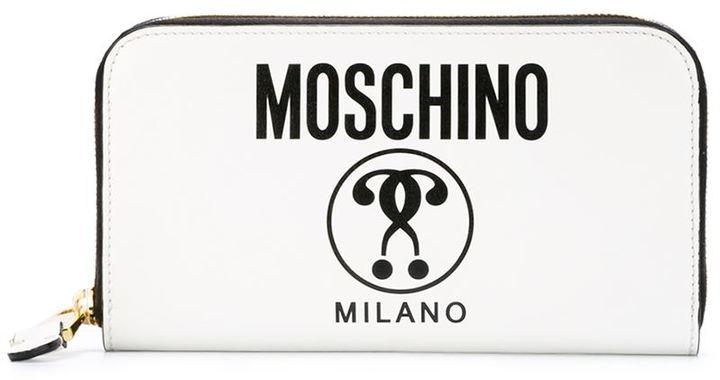 MoschinoMoschino logo print wallet