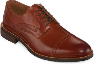 STAFFORD Stafford Murphy Mens Leather Cap-Toe Dress Oxford Shoes
