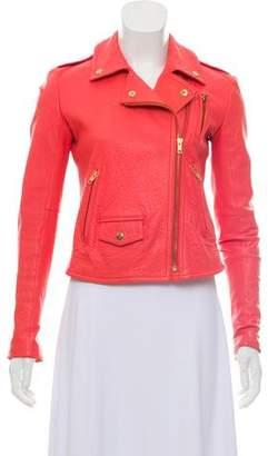 Theory Asymmetrical Leather Jacket