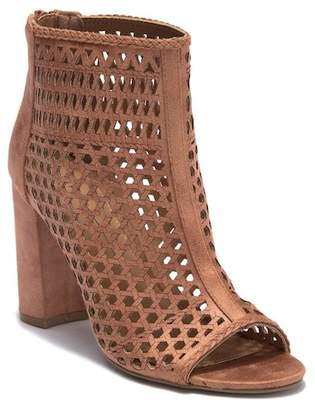 Report Perforated Peep Toe Bootie