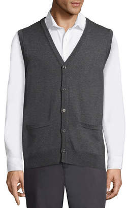 Claiborne Y Neck Sweater Vest