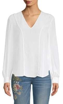 A.L.C. Brady Long-Sleeve Silk Blouse