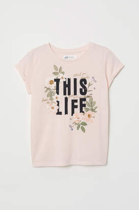 H&M Shirt with Printed Design - Pink