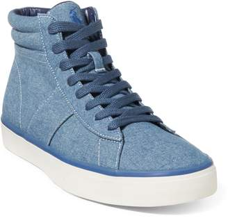 Ralph Lauren Shaw Chambray High-Top Sneaker