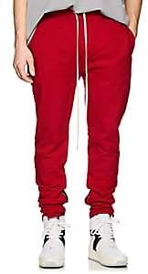 Fear Of God Men's Cotton Ankle-Zip Slim Sweatpants-Red