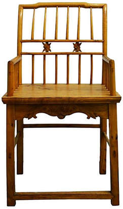 One Kings Lane Vintage Antique Lacquered Scholar's Chair - FEA Home