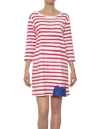Tsumori Chisato Striped Cotton Jersey Dress
