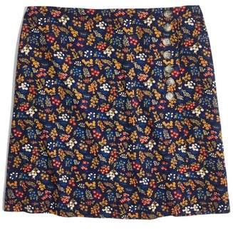 Madewell Side Button A-Line Miniskirt