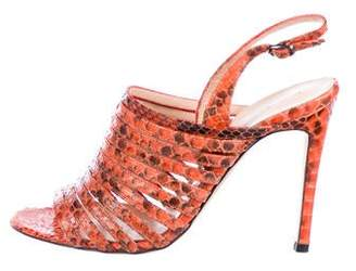 Alexandre Birman Snakeskin Caged Sandals