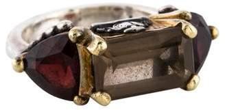Lagos Quartz & Garnet Caviar Ring