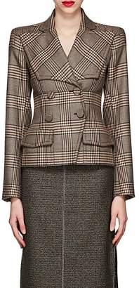 Fendi Women's Plaid Wool Double-Breasted Blazer