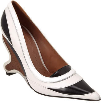 Marni Wooden Heel Leather Pump