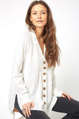Free People All About The Feels Button Down Shirt