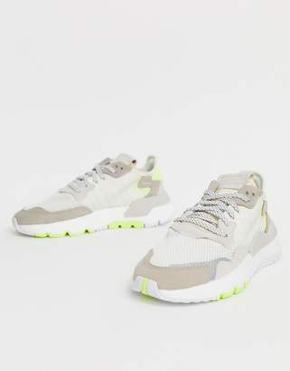 adidas off white and yellow Nite Jogger trainers