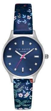 Ted Baker Zoe Stainless Steel and Leather Strap Watch